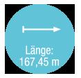 Laenge 167,45 m