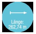 Laenge 262,74 m