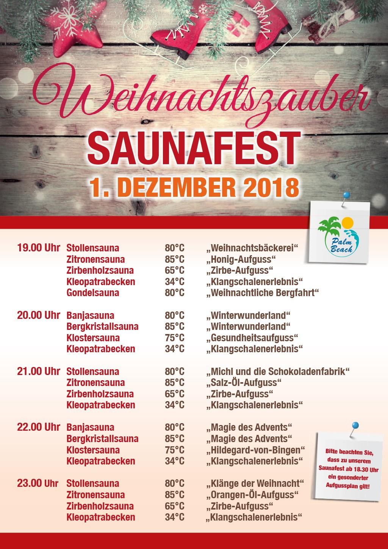 Weihnachtszauber Saunafest